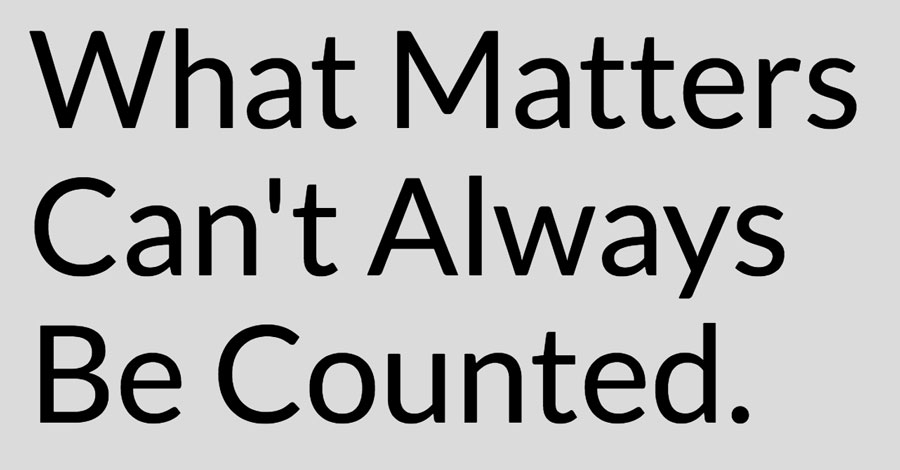 What Matters Can't Always Be Counted.